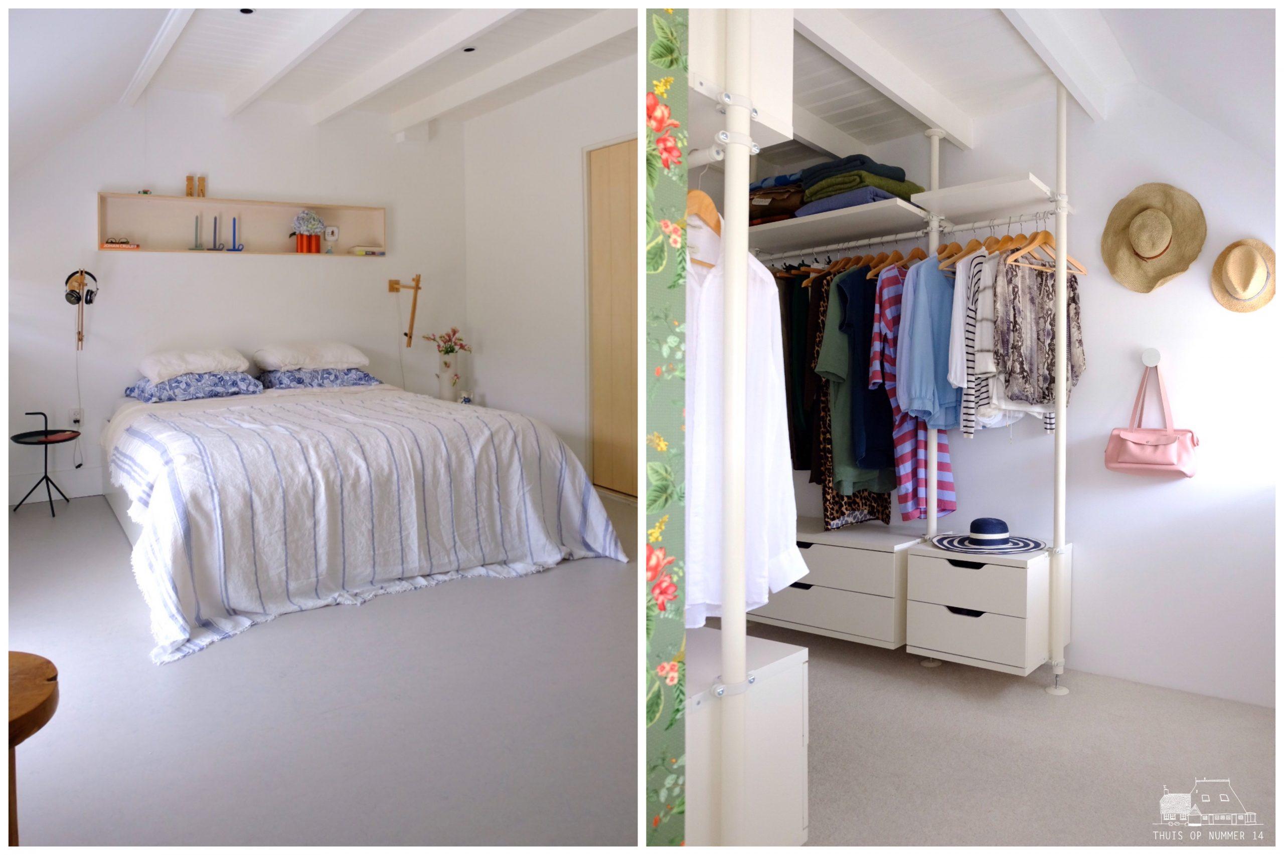 thuis op nummer 14 -Onze slaapkamer mét fijne inloopkast.