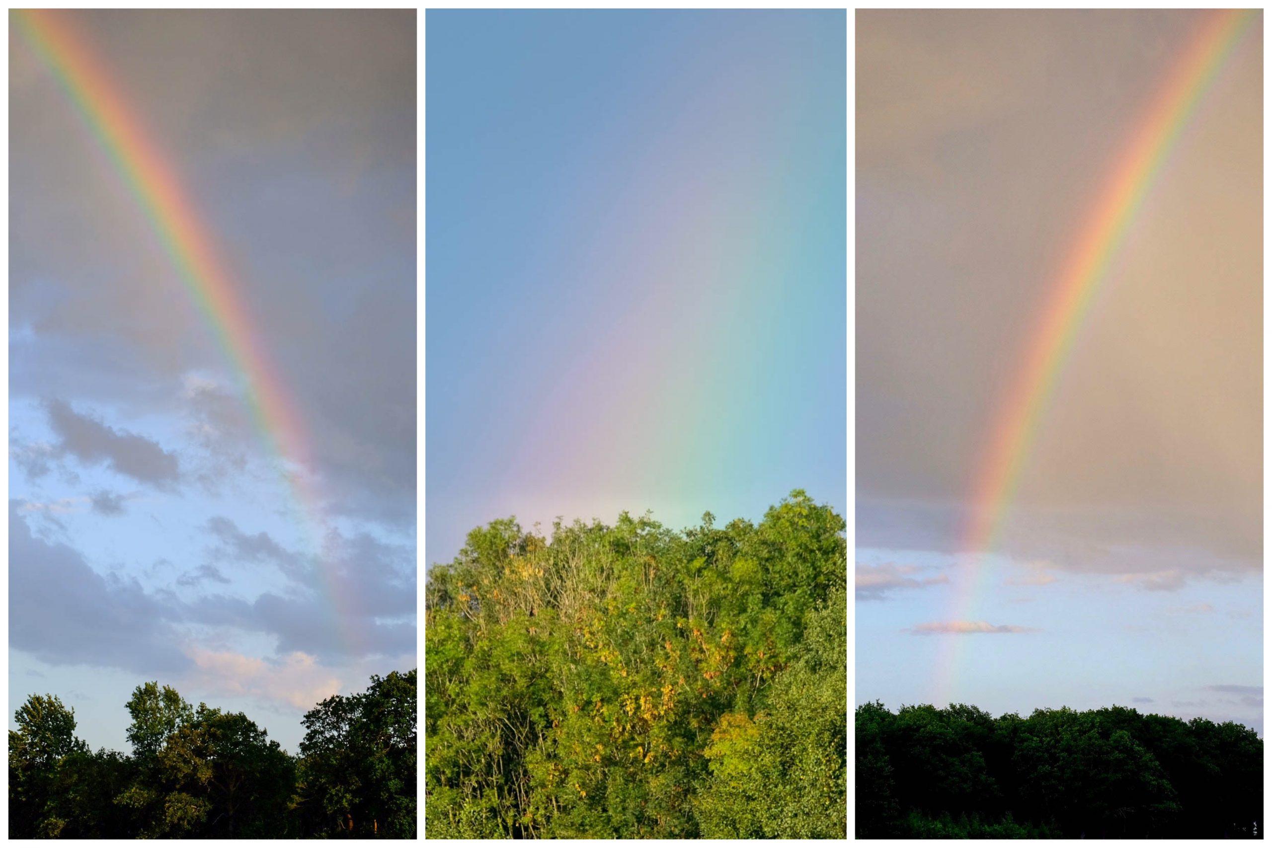Potten met goud onderaan de regenboog?