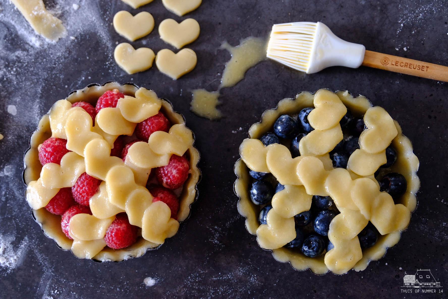 Veelzijdige raster-fruittaartjes