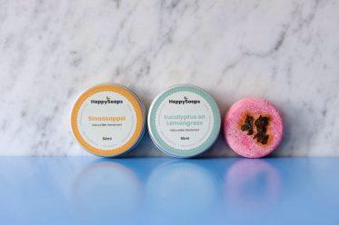 HappySoaps, 100% plasticvrije cosmetica.